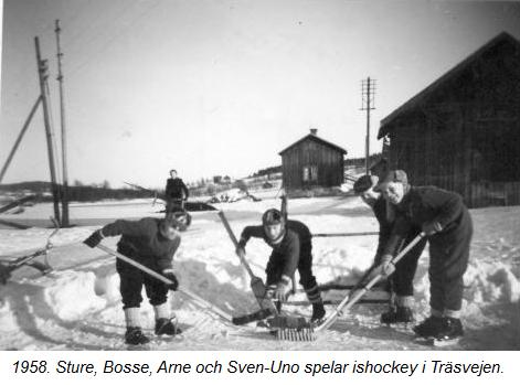 Ishockey i Träsvejen 1958